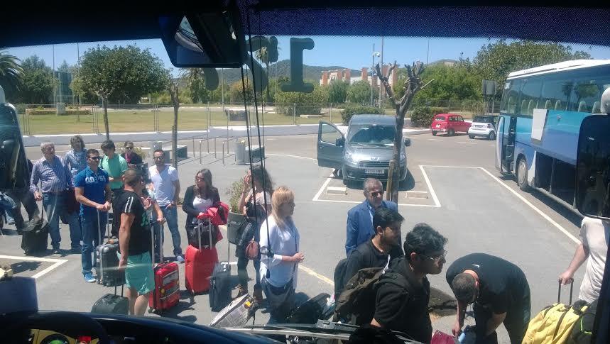 Lining up at Aeropuerto De Ibiza